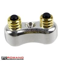 """Silver Motorcycle 7/8"""" 1"""" Handlebar Dual Push Button Switch For Harley Chopper"""