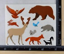 Mrs Grossman Mountain WOODLAND ANIMALS Stickers 1/2 GIANT SHEET