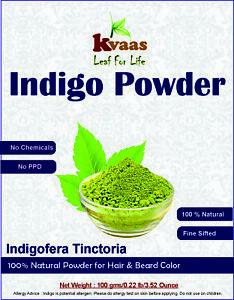 100 g (3.5274 oz)Natural Indigo Powder for Hair & Beard - Kvaas