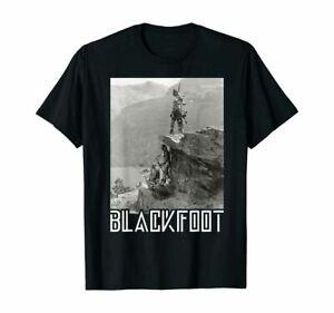 Blackfoot Native American Indians At Glacier National Park T-shirt Size S-3XL
