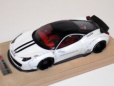1/18 Ferrari 458 Liberty Walk LB Performance White Black Top & Stripe BBR / MR B