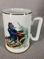 Norman Rockwell Tankard Mug Cup Braving the Storm Long John Silver 1985 Vintage