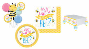 What Will Honey Bee Baby Shower Party Gender Reveal Tableware Balloon Decoration