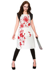 Blood Splattered Halloween Bloody Apron Chef Kitchen Cook Fancy Dress Unisex New