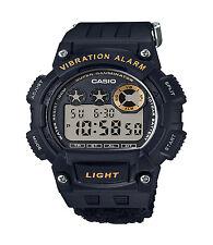 Casio Men's W735HB-1AV Super Illuminator Vibration Alarm Black Nylon Band Watch