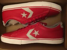 Converse Prl Leather Vulc Varsity Red Low Ox  Men's Size 10.5 136525C