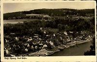 Sächsische Schweiz Stadt Wehlen s/w Postkarte 1941 gelaufen Gesamtansicht Totale