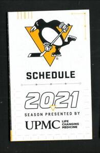 Pittsburgh Penguins--2021 Pocket Schedule--PPG