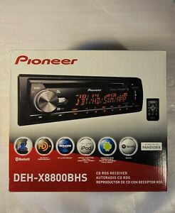 Pioneer DEH-X8800BHS Bluetooth iPhone HD Radio CD Player Pandora XM SAT Aux USB