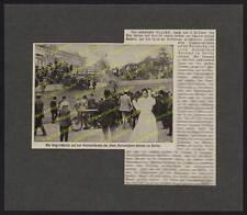 Radrennbahn Botanischer Garten Berlin Unfall Steherrennen Fahrrad Motorrad 1909