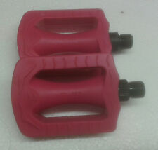 Pedal for Childs kids bike bicycle 9/16 pair Pink