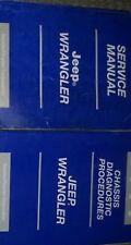 2002 JEEP WRANGLER Service Shop Repair Manual Set W CHASSIS DIAGNOSTIC MANUAL