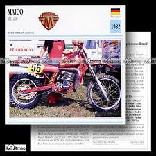 #068.09 MAICO MC 490 1982 (MC490) Fiche Moto Motorcycle Card