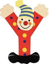 Lettre prenom de porte clown en bois Y ROUGE, décoration de porte **