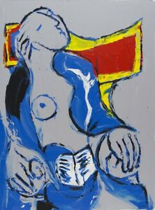 Philippe LE MIERE After Pablo Picasso la lecture nude original signed painting