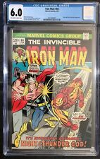 INVINCIBLE IRON MAN #66 CGC 6.0 IRON MAN vs The Mighty THOR 1974 Bronze Age key