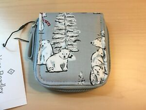 NWT Vera Bradley Travel Takes Contact Case Beary Merry NEW Lens Holder Winter