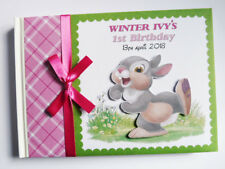 DISNEY THUMPER BAMBI BIRTHDAY/BABY SHOWER GUEST BOOK - ANY DESIGN