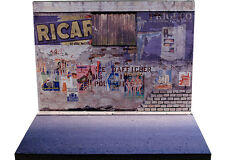 Diorama présentoir Mur délabré - Decayed wall - 1/43ème - #43-2-A-A-043