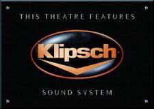 """PLAQUE CINEMA DECORATIVE """"Klipsch"""" EN IMPRESSION NUMERIQUE"""