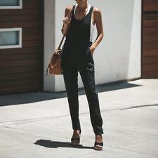 ZANZEA Womens Sleeveless V Neck Office Work Jumpsuits Playsuits Ladies Trousers