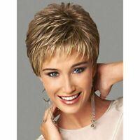 Elegant Short Straight Fluffy Stylish Blonde/Brown Wig Hair For Women