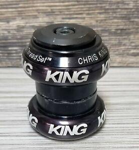 "Chris King 1 1/8"" NoThreadset headset LOGO Anodize BLACK complete GT-LTS Yeti"