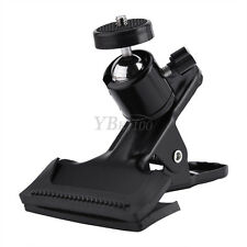 "Adjustable Metal Clip Clamp Holder Mount With Ball Head 1/4"" Screw For Camera JS"