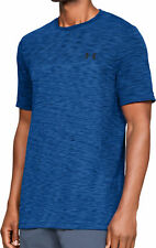 Under Armour Vanish Mens Training Top Blue Seamless Short Sleeve Sports T-Shirt