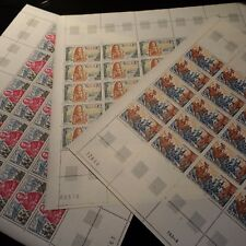 FEUILLE SHEET TIMBRE HISTOIRE DE FRANCE N°1655/1657 x25 NEUF ** LUXE MNH