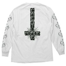Creature Horde Cross Long Sleeve Skateboard Shirt White Xxl