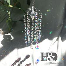 H&D 7pcs Crystal Drop Prisms Suncatcher Hanging Pendant Crystal Chandelier Decor