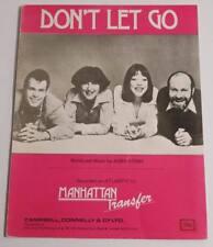 Partition vintage sheet music MANHATTAN TRANSFER : Don't Let Go * 70's