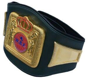 TE World Boxing Federation WBF Champion Belt Leather Replica Adult WBC,IBF,WBA