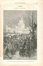 Montréal Carnaval Palais de Glace Canada du The Montreal daily Star GRAVURE 1887
