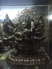 18'' China Tibet Dojre Phurba Vajrakila Buddha Yab-yum Bronze Statue