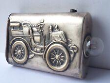 Flashlight Metal Silver Plated Car um 1900 AL1477