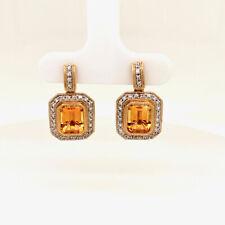 Pretty Diamond & Citrine Earrings N/M N/R