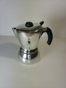 Bialetti Mukka Express 2 Cup Cow Cappuccino Maker Stove Top All Chrome
