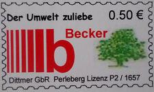 2tlg. Briefmarkensatz Becker GMBH Privatpost  01.08.2010 selbstklebend  NEU