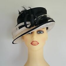 Ladies Wedding Hat Races Mother Bride Black & Ivory Cream Llewellyn & Mitchell