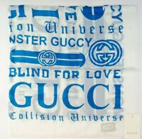 GUCCI logo print scarf 80 x 80 cm modal made in Italy