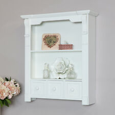 White wooden wall bathroom cabinet shelving unit living room hallway display