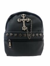 CROCE GOTICA IN METALLO NERO Mini Zaino Zaino Steam Punk Rock Goth Bag
