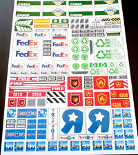 CUSTOM TRUCK STICKERS for CARGO FEDEX TRASH FIRE TOYSRUS LEGO 3180 60016 7733