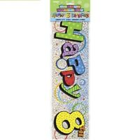 Happy 8th Birthday 12ft Party Banner Age 8 Birthdays Banners Decorations