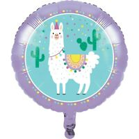 "18"" Llama Party Foil Helium Balloon Girls Birthday Decoration Lilac Childrens"