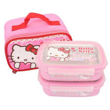 Hello  Kitty Stainless Steel Bento Lunch Box Food Storage Container include Bag