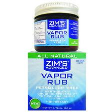 Zims All Natural Vapor Rub Petroleum Free... ROCKET FAST SHIPPING!!! H26