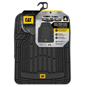 CAT®  Car Rubber Floor Mats All Weather Liner 4 Pieces Heavy Duty Set Trim Fit
